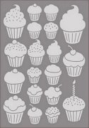 Embossing Folder - Cart Us - Cupcakes