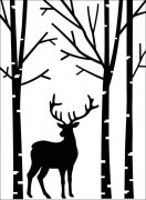 "Embossing Folder 4.25""X5.75"" - Darice - Deer In Forest"