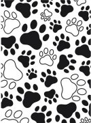 Embossing Folder - Paw Print Background