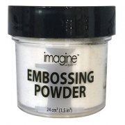 Utgår! Embossingpulver Imagine Crafts 28 gram - White Detalj