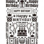 Embossing Folder - Darice - Birthday Collage