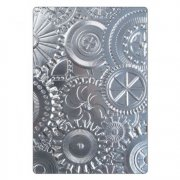 Embossing Folder 3D Texture Fades Tim Holtz Sizzix - Mechanics
