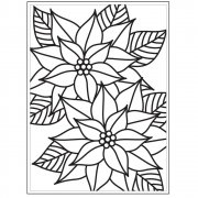 "Embossing Folder 4.25""X5.75"" - Darice - Mosaic Poinsettia"