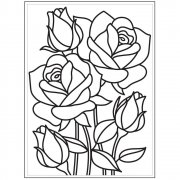 "Embossing Folder 4.25""X5.75"" - Darice - Mosaic Rose"