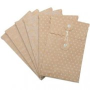 Melissa Frances Kuvert 6-pack - Attic Treasures Kraft Banker's Envelopes