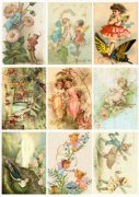 Vintage Foton A4 Reprint - Fairies