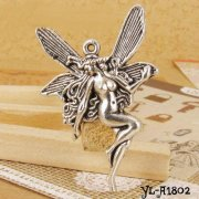 Charms 10 st - Fairy Lady 43mm