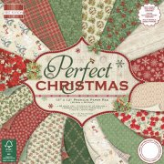 "Paper Pad 12""x12"" - Perfect Christmas - First Edition - 48 ark"