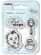 Utgår! Clearstamp - First Steps - Scrapberry's