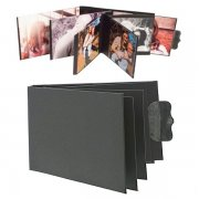 Flip book Chipboard Album - Black