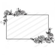 Clear Stamps Nellie Snellen - Frame with Rose