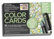 Chameleon Color Cards - Embossed Lines - 10x15 - Floral Patterns