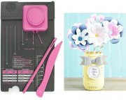 Flower Punch Board We R Memory Keepers - Pink