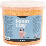 Foam Clay - Orange - Glitter - 560 g