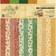 Paper Pad 12x12 Patterns and Solids - St Nicholas - Graphic 45