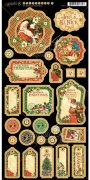 "Chipboard Die Cuts 6""X12"" - St Nicholas Graphic45 - Journaling"