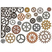 Sizzix Thinlits Die - Gearhead by Tim Holtz