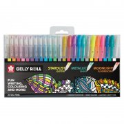 Gelly Roll Mixed Set - Stardust, Metallic, Moonlight - 24 st