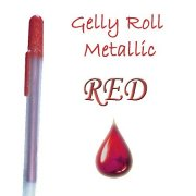 Gelly Roll Penna - Metallic Red