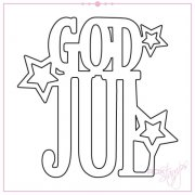 Dies God Jul - 60 x 60 mm - RoxStamps