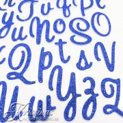 Alfabet Stickers - Sweetheart Script Blue Glitter