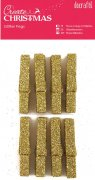 Docraft Create Christmas - Glitter Pegs Gold - 8 st