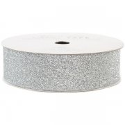 Glitter Tape Bred 2 cm - American Crafts - 3 yards - Silver
