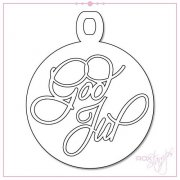Dies RoxStamps - God Jul med Julkula - 100 x 80 mm
