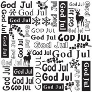 Embossing Folder - God Jul - Nellie Snellen - 150 x 150 mm