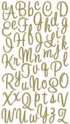 Alfabet Stickers - Sweetheart Script Gold Glitter