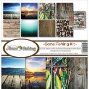 Paper Kit 12x12 - Reminisce - Gone Fishing