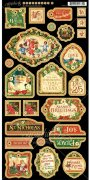 "Chipboard Die Cuts 6""X12"" - St Nicholas Graphic45 - Decorative"