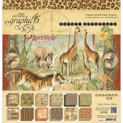 Paper Pad 12x12 - Graphic 45 - Safari Adventure