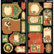 "St Nicholas Die-Cuts 6""X12"" - Tags & Pockets - Graphic45"