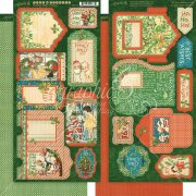 Graphic 45 Die cuts - Tags & Pockets - Christmas Magic
