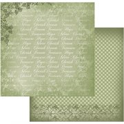 Papper Couture Creations - Vintage Rose Garden - Green Typo