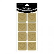 Stickers Bella! Wedding Foiled Seals - Guld hjärtan