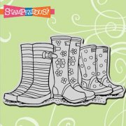 Cling Rubber Stamp - Puddle Boots - Stampendous