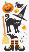 3D Stickers Mix - Halloween - Heyda