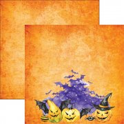 Papper Reminisce 12x12 - Watercolor Halloween - Halloween Night