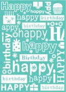 "Embossing Folder 5""x7"" - Provocraft - Happy Birthday"