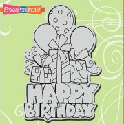 Cling Rubber Stamp - Chunky Birthday - Stampendous