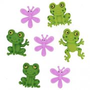 Knappar Figurer - Happy Frogs