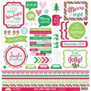 Stickers 12x12 Doodlebug - Here Comes Santa Claus - This & That