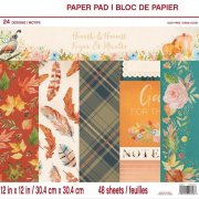 Paper pad Craft Smart - Hearth & Harvest - 12x12 Tum