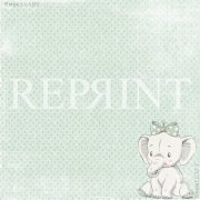 Paper Pad 6x6 Reprint - Sweet Baby Lightblue