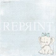 Papper Reprint - Sweet Baby Lightblue - Blue Elephant