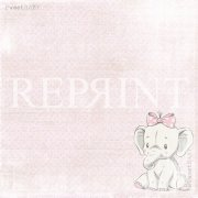 Papper Reprint - Sweet Baby Pink - Pink Elephant