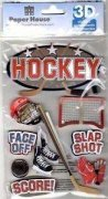 3D Stickers - Hockey - Paper House