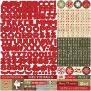 "Stickers 12""x12"" - Holiday Cheer Alphabet - Photo Play"